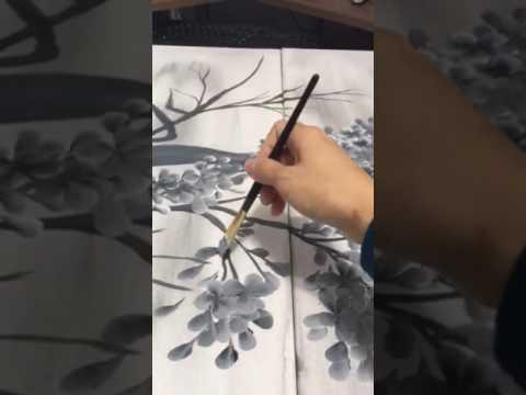 Drawn sakura blossom one stroke One stroke stroke cherry easy