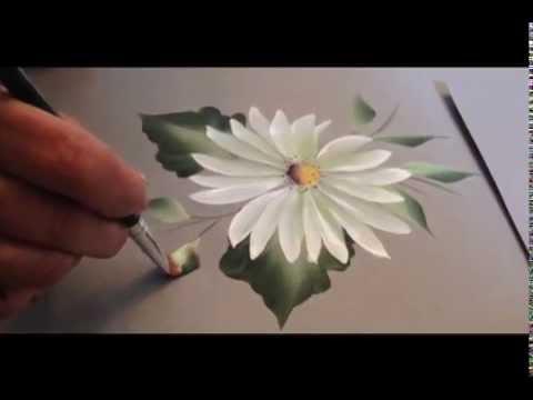 Drawn sakura blossom one stroke Email: daisy paint by Stroke:
