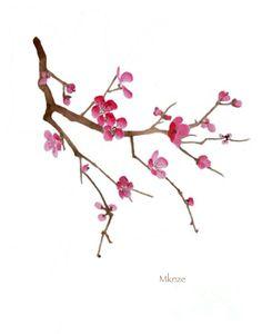Drawn sakura blossom one stroke Vector graphics Blossoms of nature