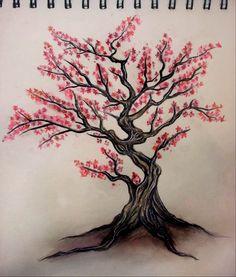 Drawn sakura blossom oriental Cherry Blossoms Tree Tree White