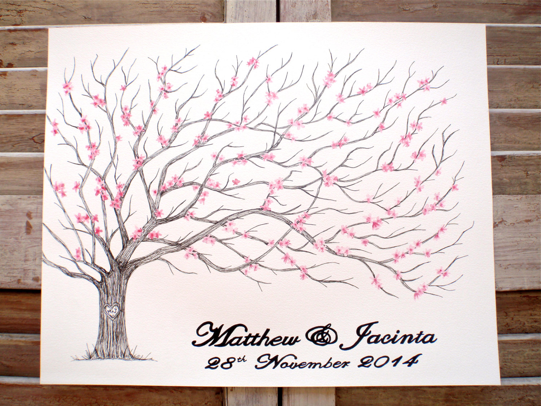 Drawn sakura blossom pen Includes Hand Drawn Cherry ink
