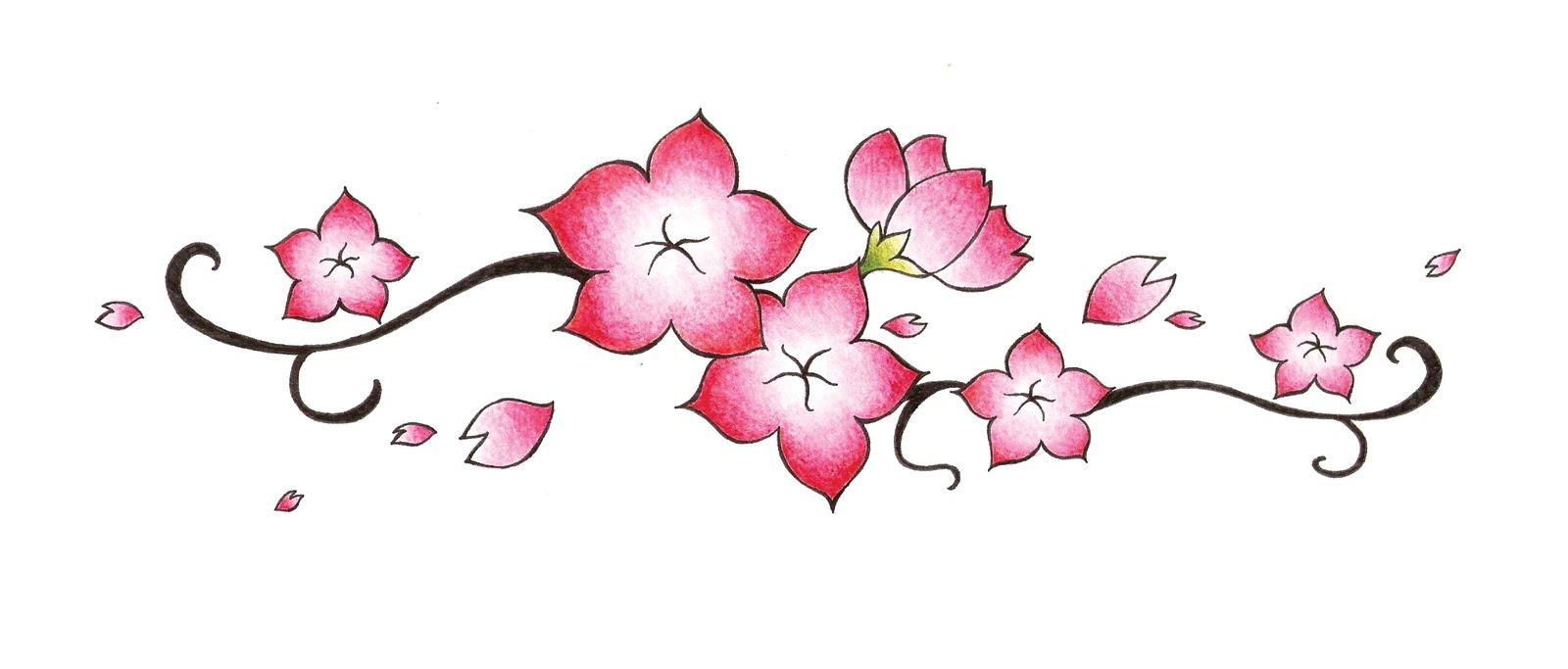 Drawn sakura blossom pencil drawing Drawing Clip Suggestions Blossom Free