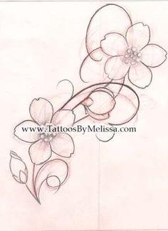 Drawn sakura blossom pinter Blossom apple (273×377) designs tattoo