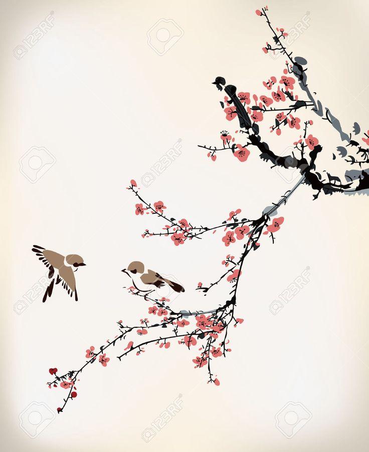 Drawn sakura blossom plum blossom Images Cherry blossom on best