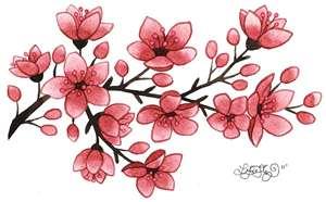 Drawn sakura blossom red Tattoo Blossom Images Ideas