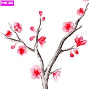 Drawn sakura blossom sakura tree Pages Sakura Tree Coloring lightofunity