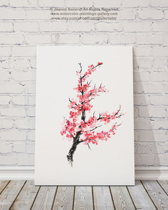 Drawn sakura blossom sakura tree Cherry  Flower Blossom Tree