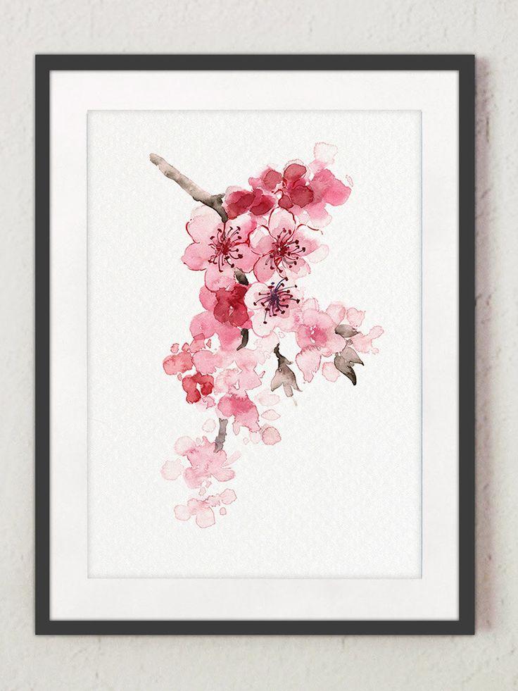 Drawn sakura blossom side view On painting  blossom 20+