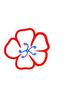 Drawn sakura blossom side view Draw how Step draw How
