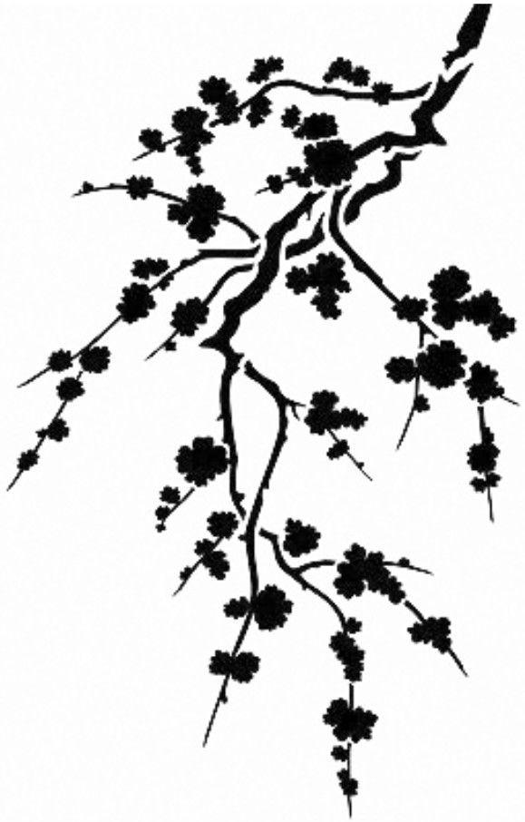 Drawn sakura blossom silhouette Images best cherry Tree Bing
