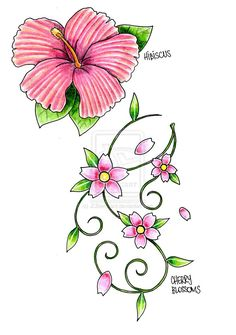 Buttercup clipart cherry blossom Art Cherry Line Cherry by