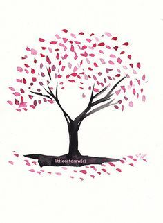 Drawn sakura blossom simple Cherry Tree best Pinterest on