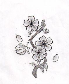 Drawn sakura blossom small flower Blossom on Blossom tree deviantART