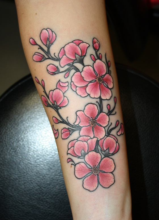 Drawn sakura blossom traditional Search neo tattoo Google traditional