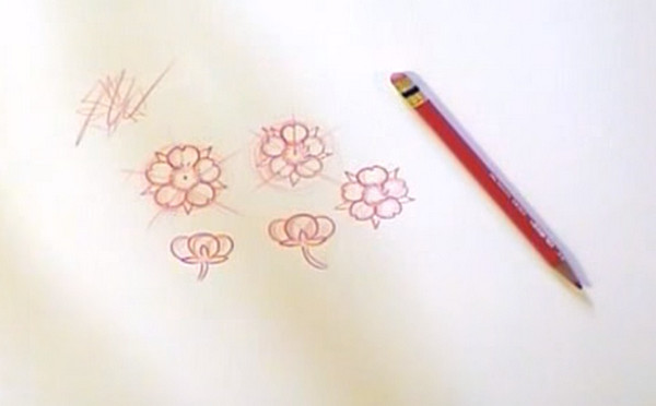 Drawn sakura blossom traditional Drawing Clever Cherry Japanese Tutorials
