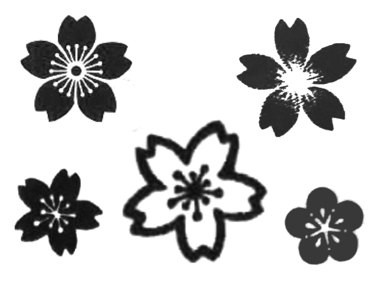 Drawn sakura blossom tribal Library: Collections More Flower Clipart