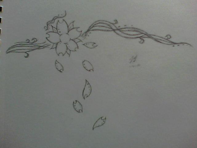 Drawn sakura blossom tribal Cherry Tattoo Blossom by Tribal