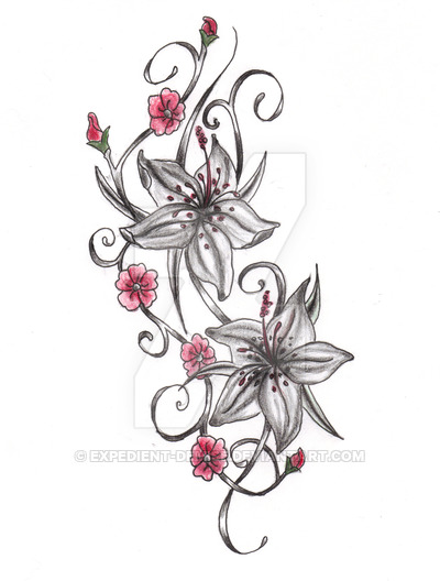 Drawn sakura blossom tribal + blossoms cherry can use