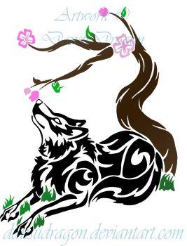 Drawn sakura blossom tribal 99 Tribal 5 Explore Greenyfoxy