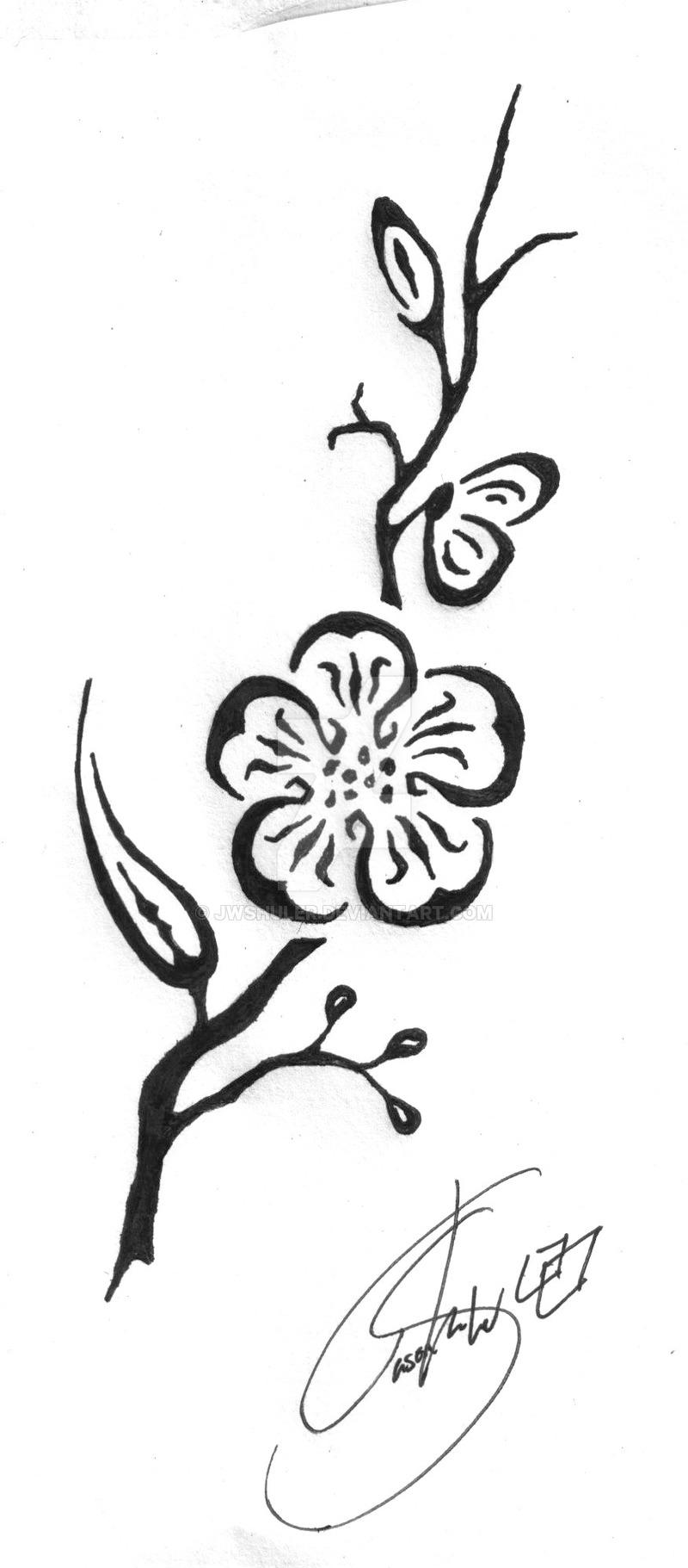 Drawn sakura blossom tribal Cherry by Blossom Cherry Tribal