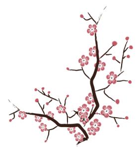 Drawn sakura blossom vector Vector Design cherry vector free