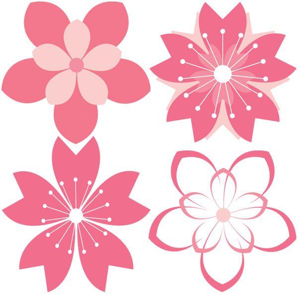 Drawn sakura blossom vector Set Best ideas 25+ on