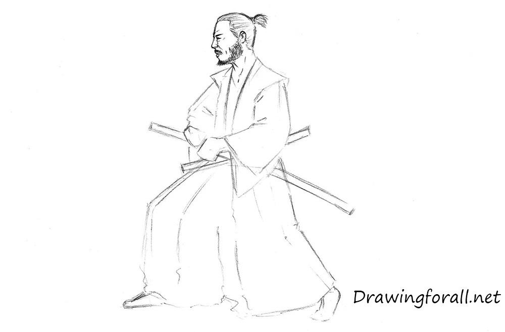 Drawn samurai Samurai a draw Draw How