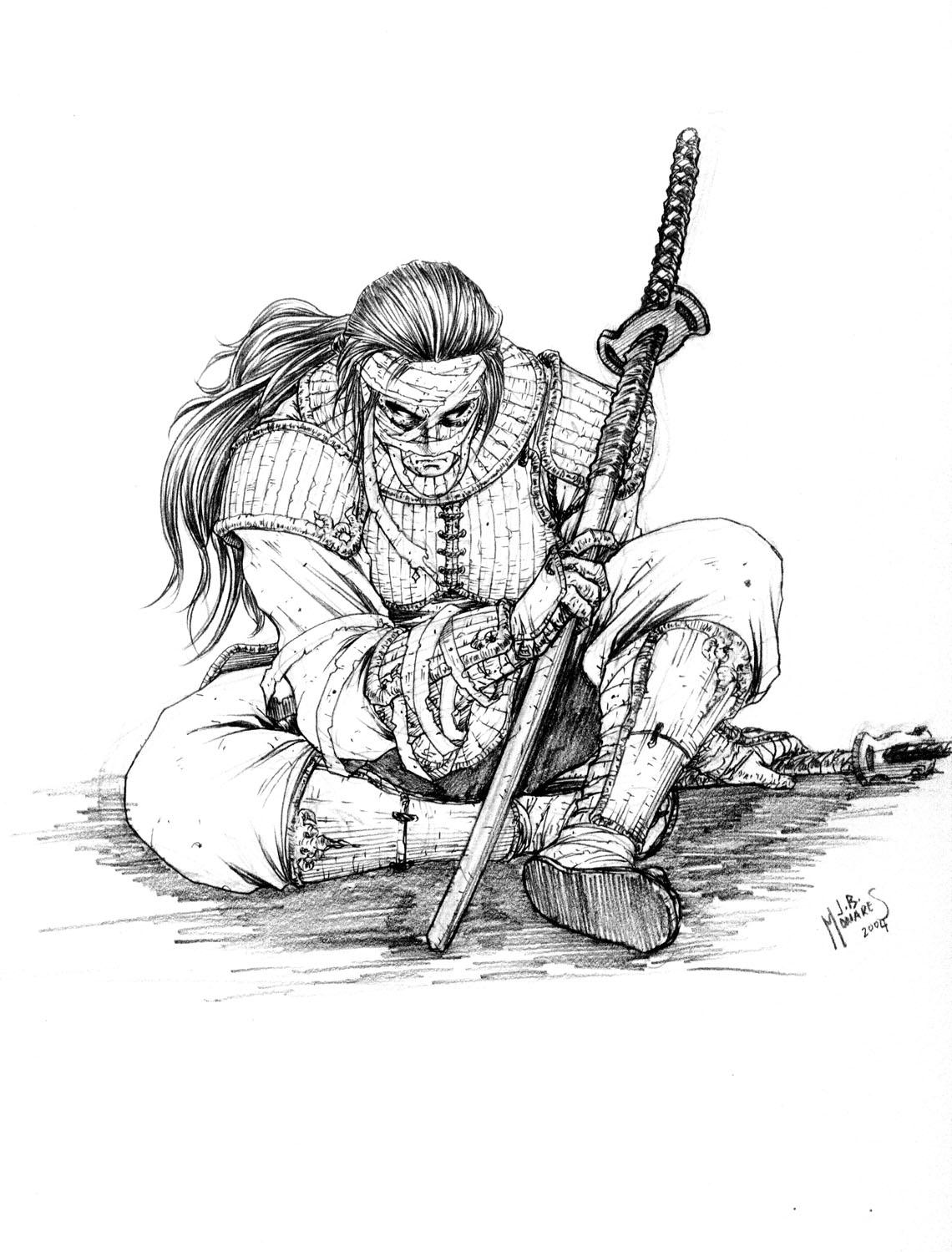 Drawn samurai DeviantArt werder by werder Samurai