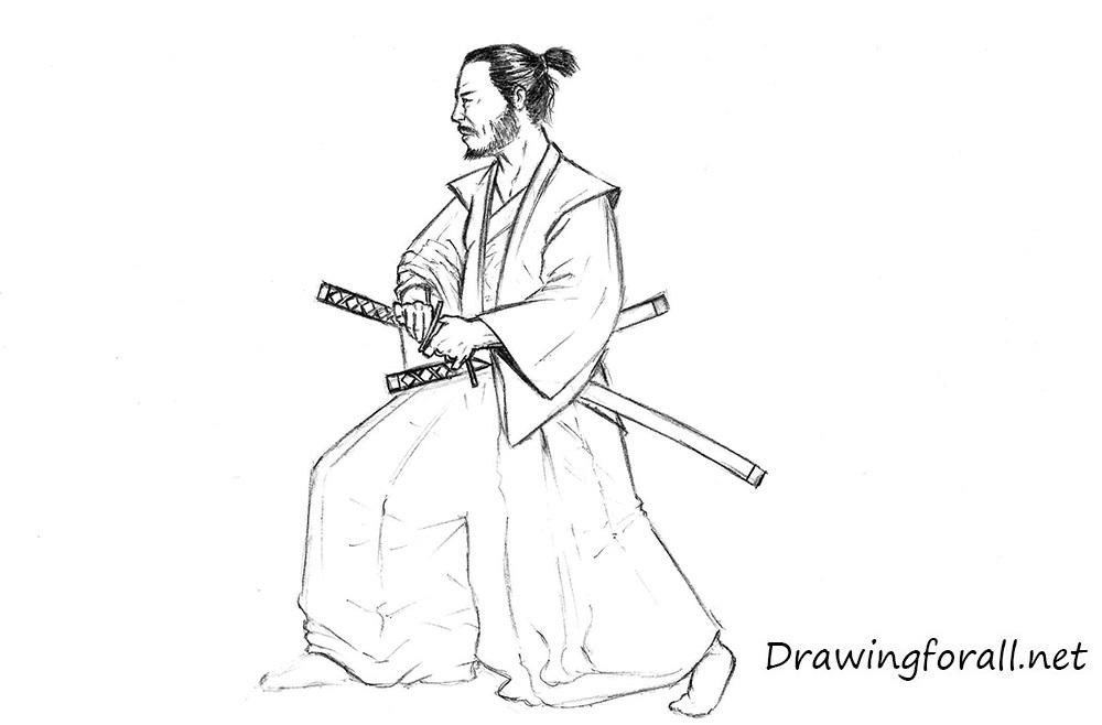 Drawn samurai Samurai draw DrawingForAll a to