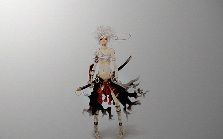 Drawn samurai abstract Samurai Fantasy Girl on Wallpapers