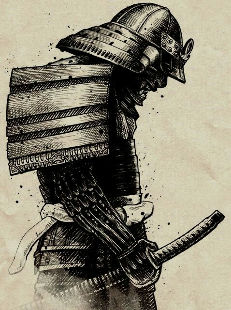 Drawn samurai abstract Pinterest WARIOR Tattoo Samurai SAMURAI