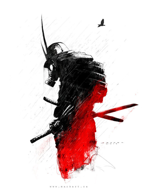 Drawn samurai abstract Samurai samurai print  Mack