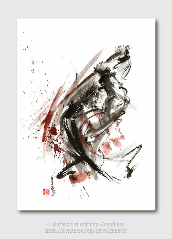 Drawn samurai abstract Japanese samurai art japanese samurai