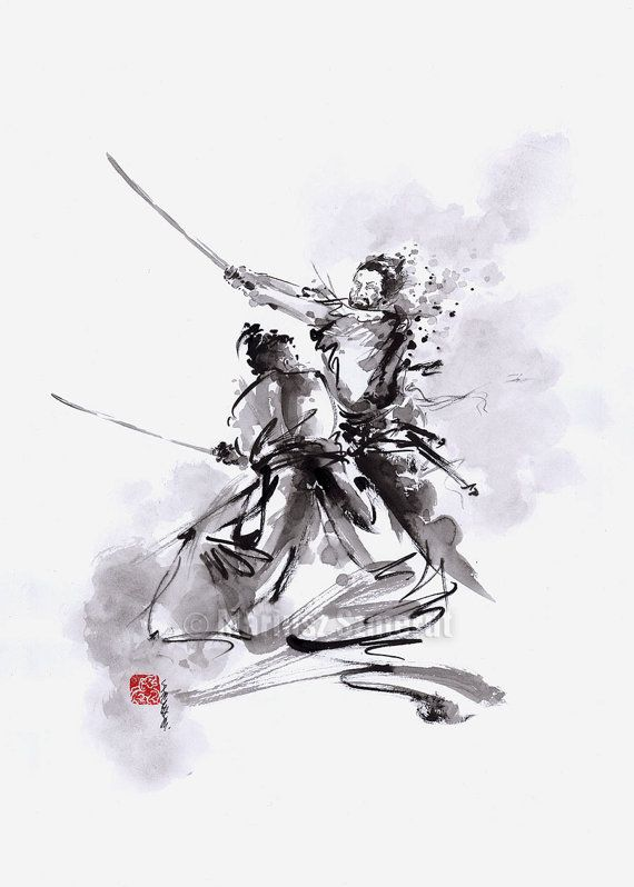 Drawn samurai abstract Art Ink Calligraphy Pinterest Samurai