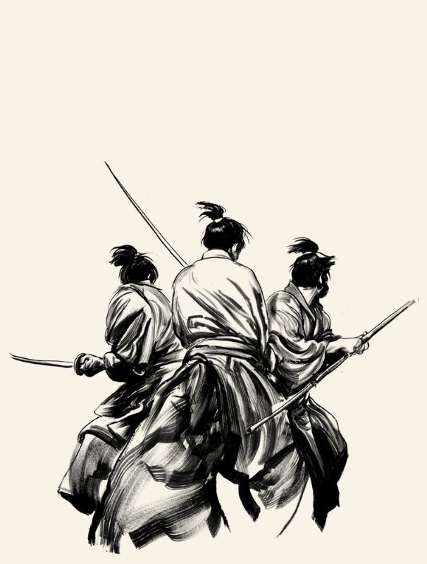Drawn samurai abstract Comic / Drawing images Samurai
