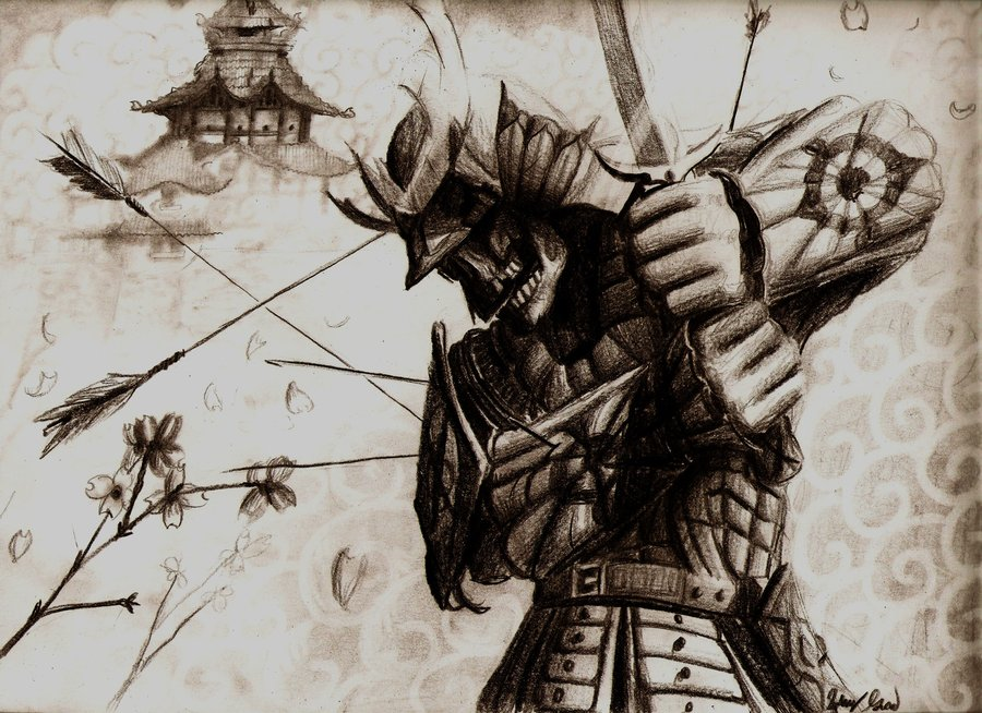Drawn samurai ancient F and  by SHIT