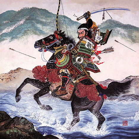 Drawn samurai ancient The in picture this battle
