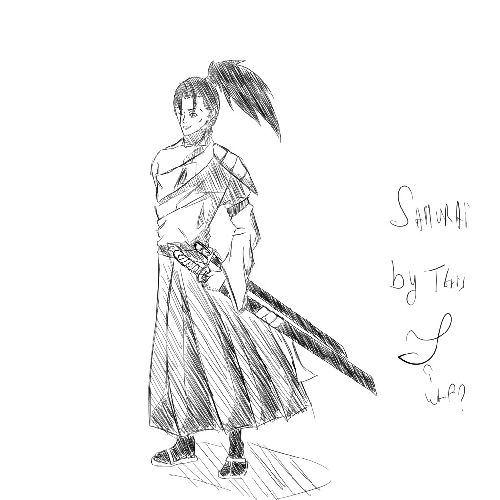 Drawn samurai anime samurai Samurai Speed manga style style