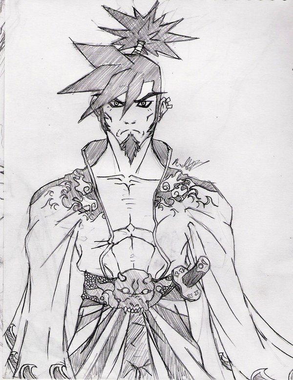 Drawn samurai anime samurai 1 Anime by FrozenHaka DeviantArt