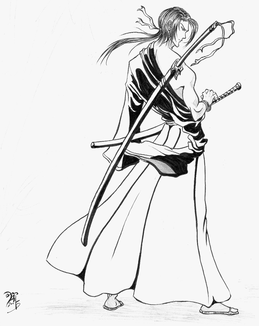 Drawn samurai anime samurai By Samurai Samurai on by