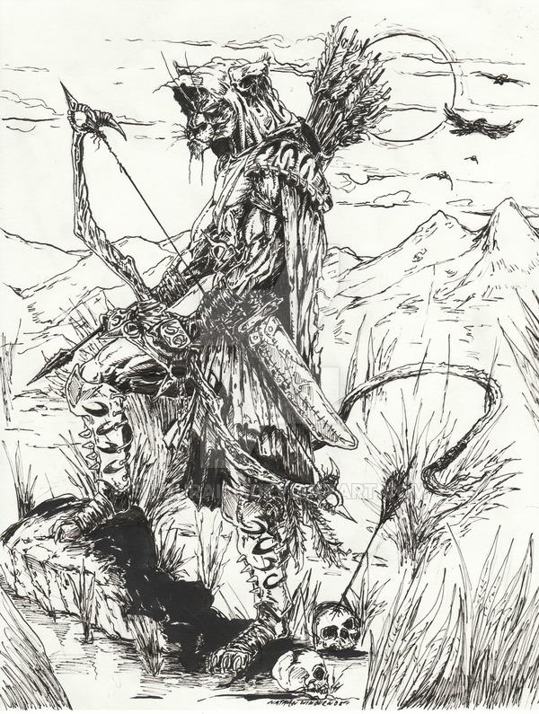 Drawn samurai archer DeviantArt Zulu Zulu the on