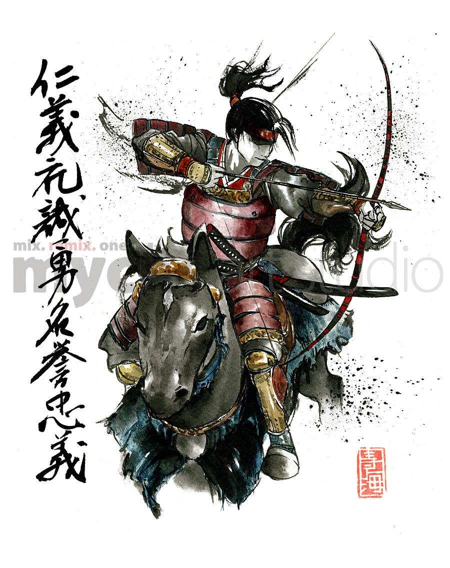 Drawn samurai archer Samurai by on Samurai