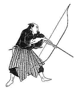 Drawn samurai archer Japanese FIRST Long The Yumi: