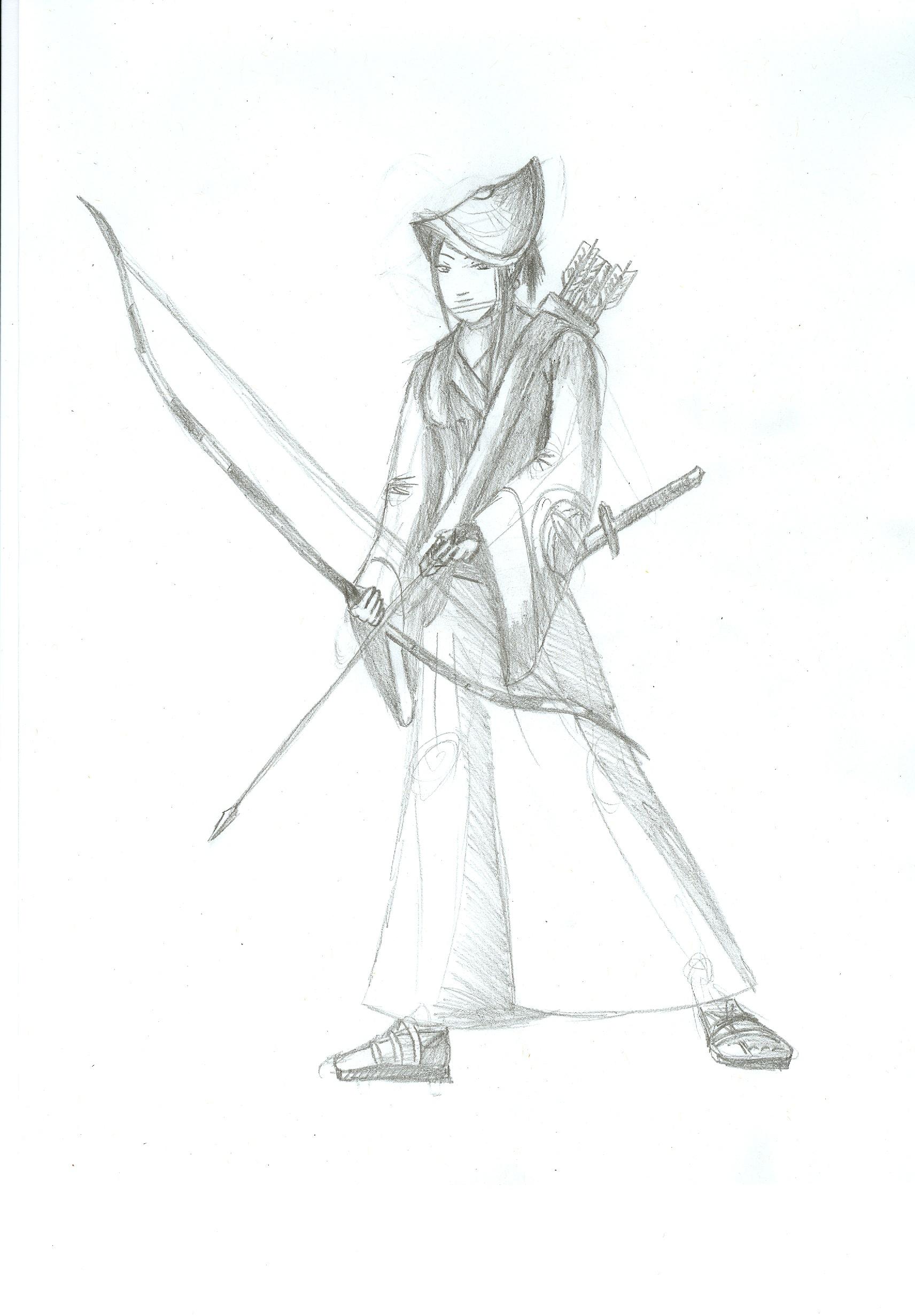 Drawn samurai archer Aneirin Aneirin  on Aryon
