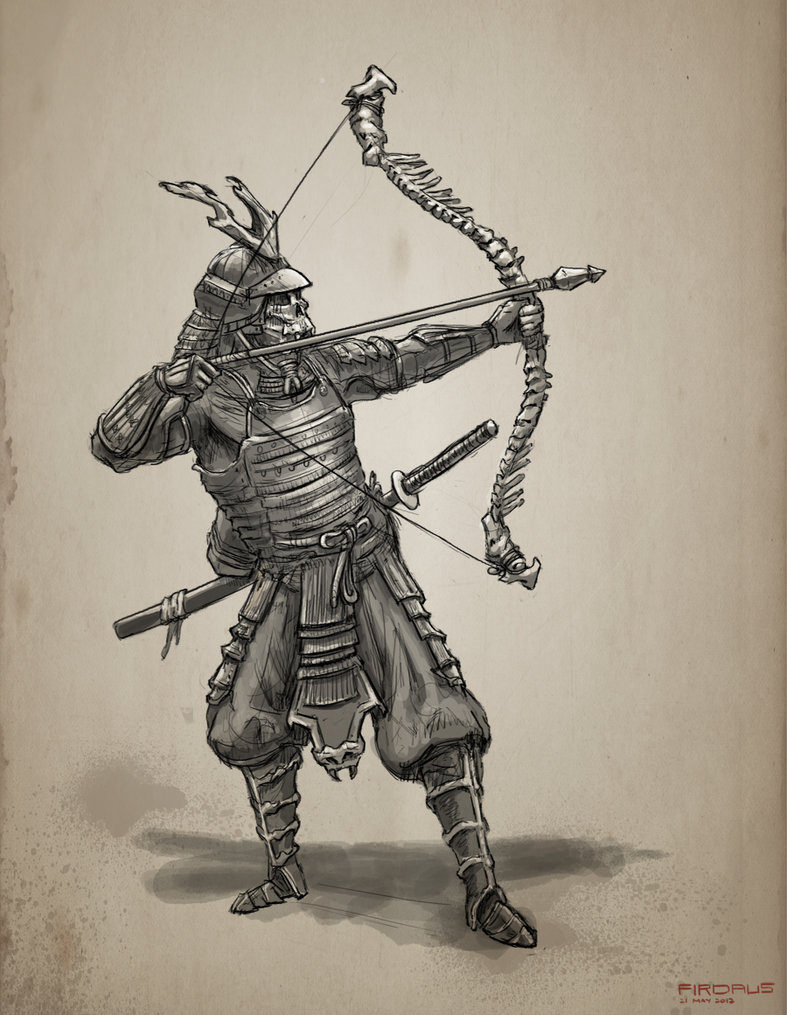 Drawn samurai archer Freakyfir freakyfir Undead Pinterest Undead