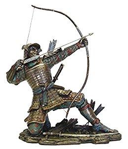 Drawn samurai archer Statue Bronzed Samurai 10 with