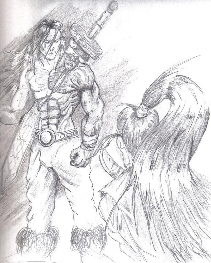 Drawn samurai barbarian Gryz Samurai by vs Samurai