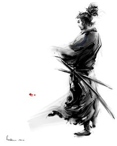 Drawn samurai black and white Awesome men training who this