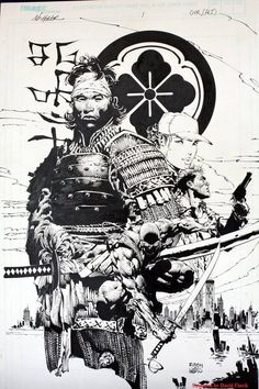 Drawn samurai black and white By Character David Outlaw Comic