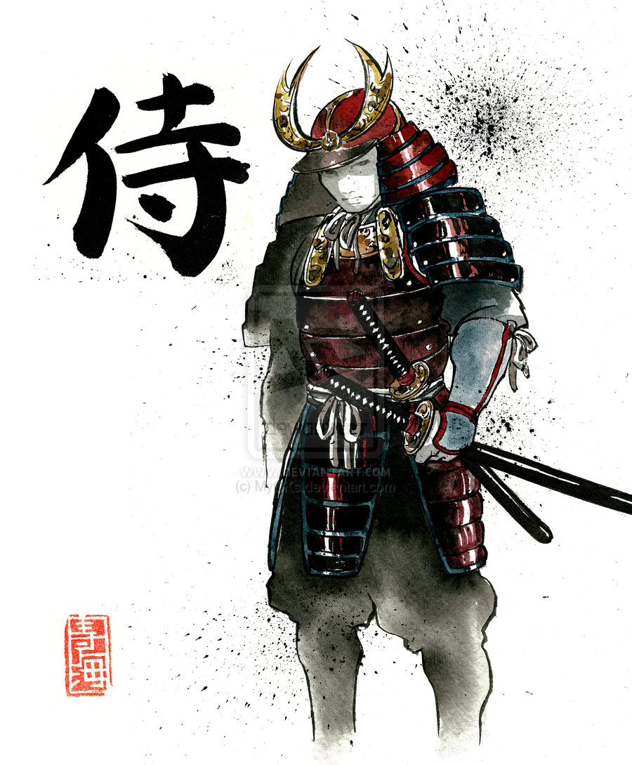 Drawn samurai bushido Drawing Style code with class